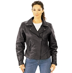 Ladies Traditional Leather Jacket Tall, 0254.tl