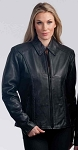 Ladies Braided Leather Jacket, 492