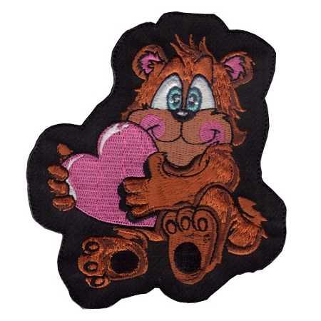 Teddy Bear Mini Embroidered patch, p350