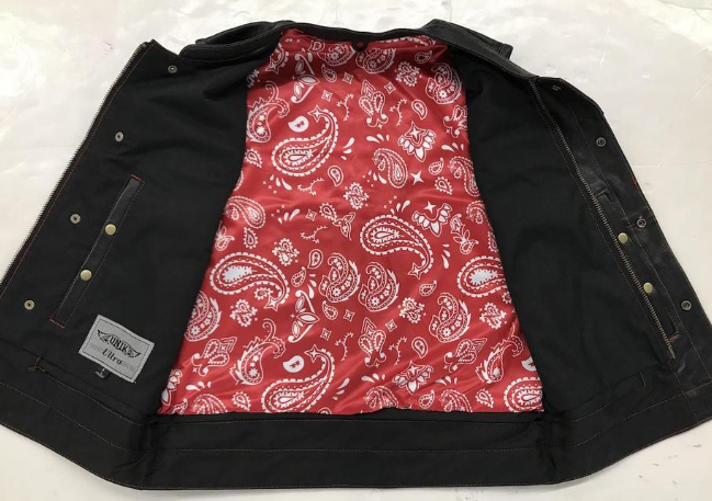 Men's Club Vest with Red Paisley Liner 6665.01