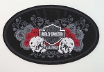 Harley Davidson Affection Skull Patch, HD87 HD88