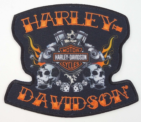 Harley Davidson Happy Days Embroidered Patch, HD111