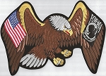 EAGLE W/USA & POW FLAGS ON WINGS, 020-591B  p41