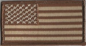 Brown & Tan American Flag, 020-702N