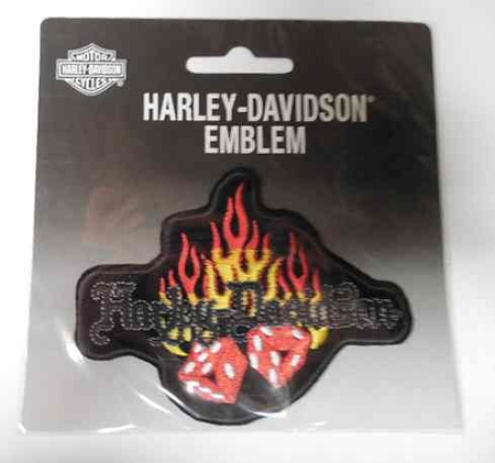 Harley-Davidson Flaming Dice Patch, HD56
