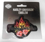 Harley-Davidson Flaming Dice Patch