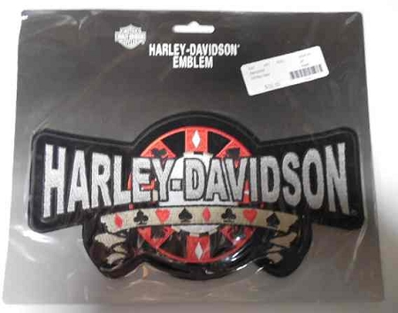 Harley-Davidson Poker Emblem Patch, HD64