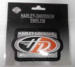 Harley-Davidson Black & Orange Patch, HD114