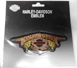 Harley-Davidson Orange Emblem Patch