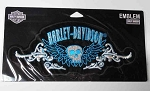 Harley-Davidson Blue Skull Emblem Patch, EM460144/ HD103