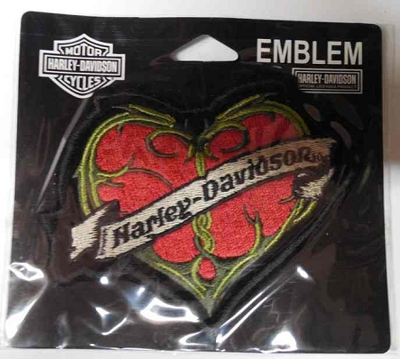 Harley-Davidson Heart Emblem Patch, EM462322 HD96