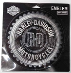 Harley-Davidson Black & Grey Gear Emblem Patch, EM539542/ HD27