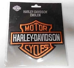 Harley-Davidson Orange Logo Emblem Patch, HD50