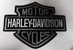 Harley-Davidson Grey Black & White Logo Patch, HD17