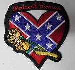 Rebel Heart w/Gold Roses Patch, L600S