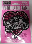 Heart Lady RIder Patch, MN32048