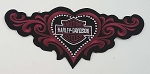 Harley Davidson Studded Heart Embroidered Patch, HD8