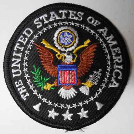 The United States Of America Patch,Blue Background