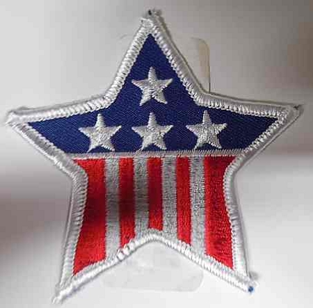 American Flag Star Patch, PM0495