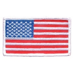 AMERICAN FLAG w/ White Boarder Embroidered Patch, p566