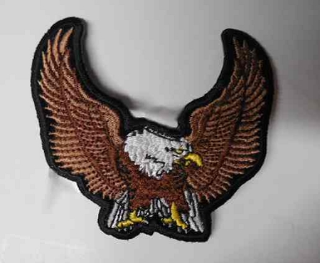 Brown Upwing Eagle Patch, p76, p73