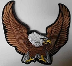 Upwinged Eagle embroidered patch, p74