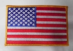 American Flag w/ Gold Outline Patch, p46