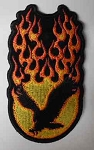 Flaming Upwinged Eagle Patch, PP1335
