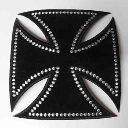 Studded Cross embroidered patch, p472