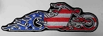 American Flag Motorcycle patch, p756