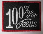 100% For Jesus Patch, PP9078