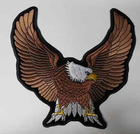 Upwinged Eagle Embroidered patch, p73