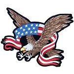 American Flag Banner Eagle Embroidered Patch, p623, p48, p49