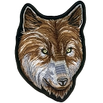 Wolf Face Embroidered Biker Patch, p149