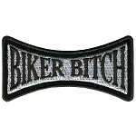 BIKER BITCH Embroidered Patch, p400