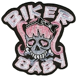 PATCH BIKER BABY PIG TAILS Embroidered Patch