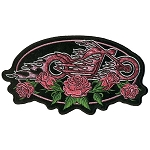 ROSE OVAL Embroidered patch, p592