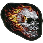 Flamed Skull Patch