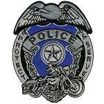 POLICE BADGE Embroidered Patch, p431