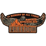 Defending Our Freedom Embroidered Patch, P187, P188