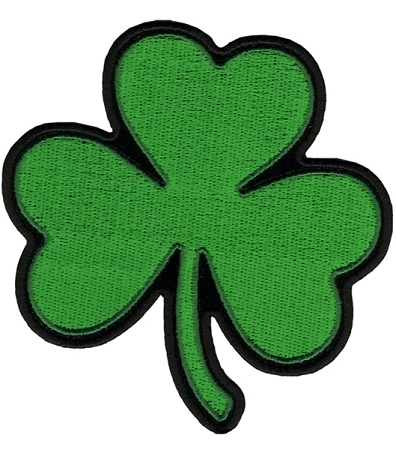 SHAMROCK Embroidered Patch, p143