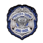 Police Protect, Serve and Ride Patch Embroidered Patch, p312