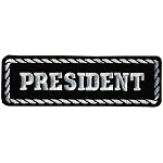 PRESIDENT Officer Embroidered Patch, p154