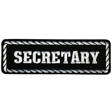SECRETARY Officer Embroidered Patch, p155