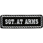 SGT AT ARMS Officer Embroidered Patch, p156