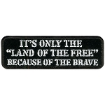 LAND OF THE FREE Embroidered Patch, p686