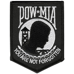 POW MIA Embroidered Patch, p2
