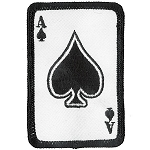 ACE OF SPADE Embroidered Patch, p482