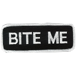 BITE ME Embroidered Patch, p132