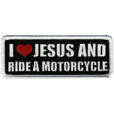 I LOVE JESUS & I RIDE Embroidered Patch, p208